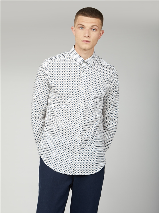 Scattered Square Print Shirt