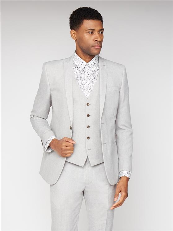 Cool Grey Texture Slim Fit Three Piece Suit