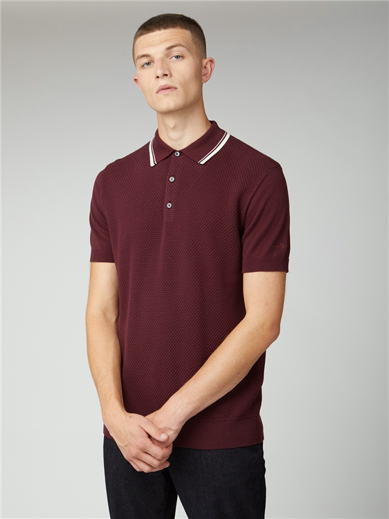 Textured Cotton Polo