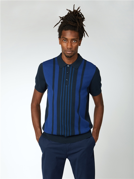 Mod Stripe Short Sleeve Polo