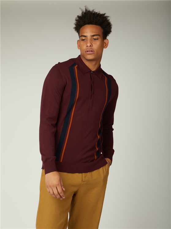 Long Sleeve Mod Stripe Polo