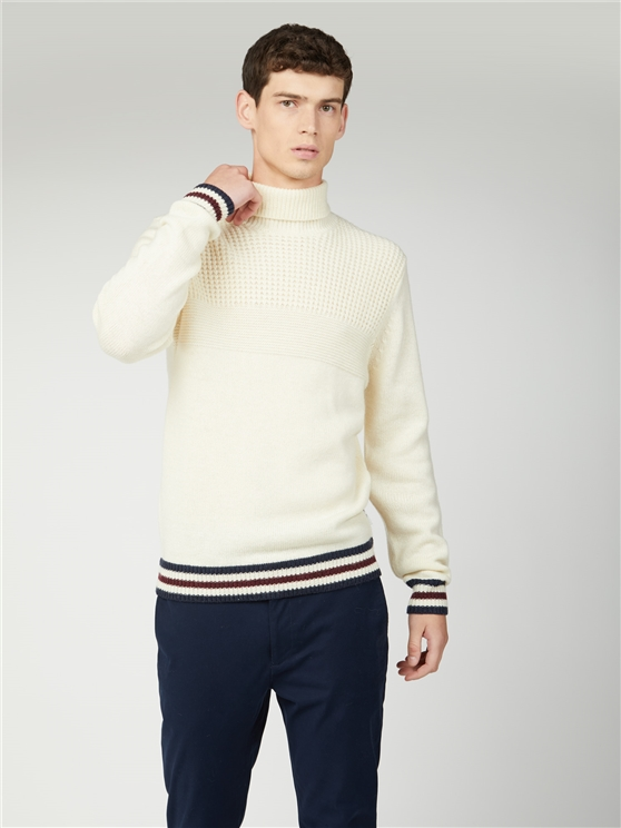 Textured Roll Neck