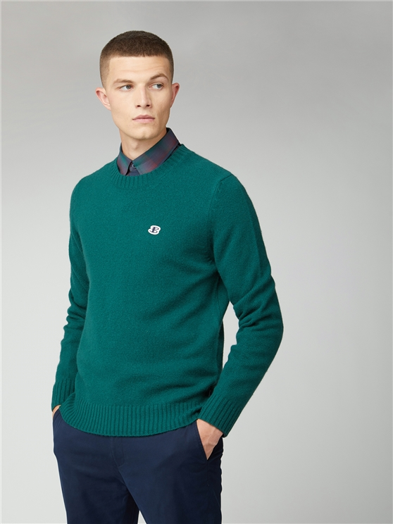 Wool Blend Basic Crew Neck Jumper