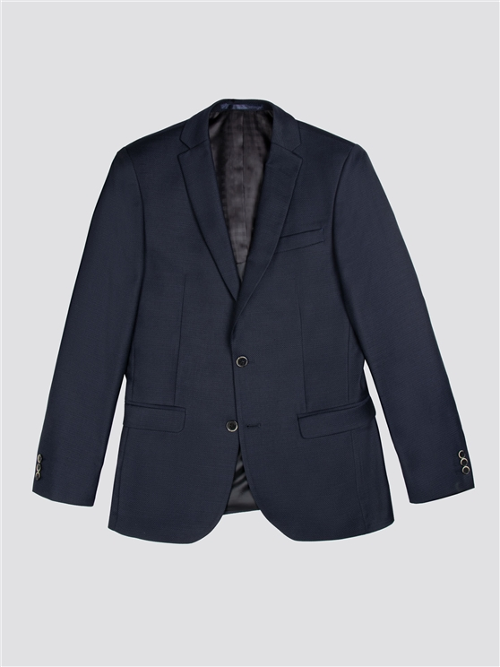 Midnight Structure Tailored Fit Three Piece Suit