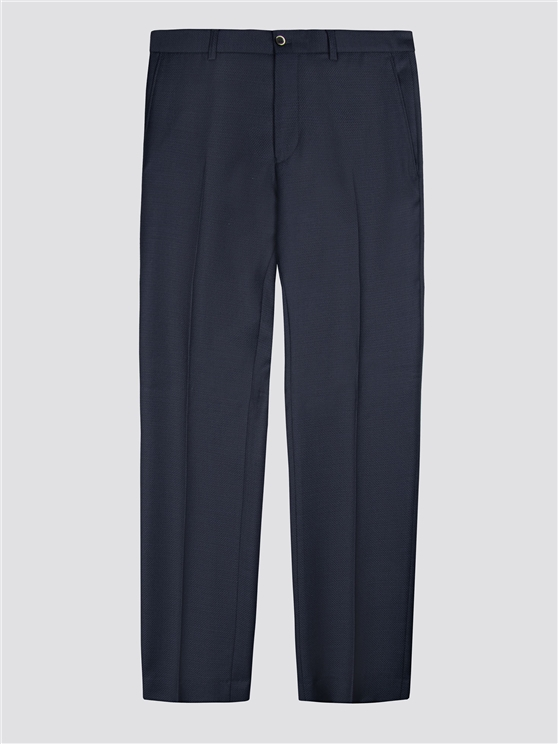 Midnight Structure Tailored Fit Suit Trousers