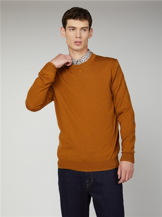 Signature Merino Blend Crew Neck Jumper