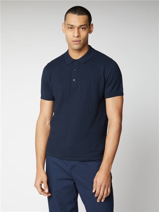 Textured Knitted Polo