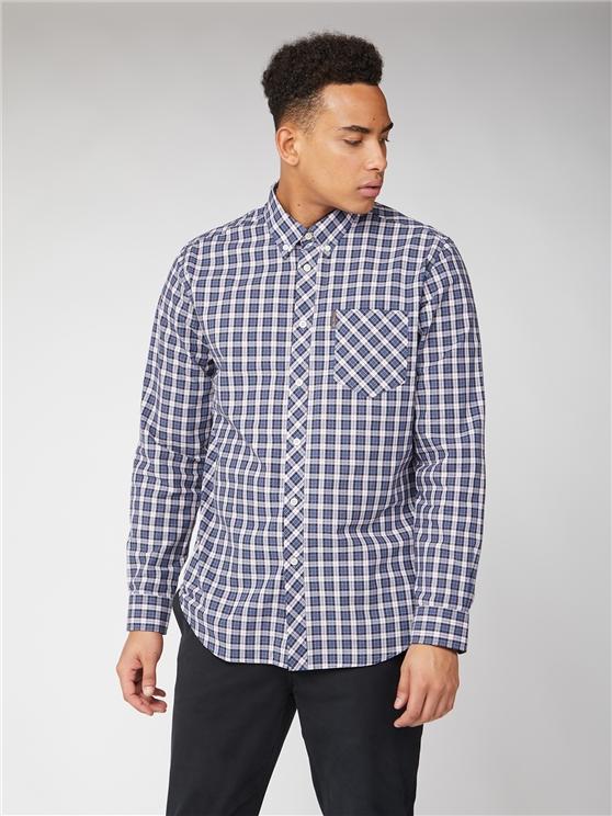 Ben Sherman Long Sleeve Blue Check Shirt