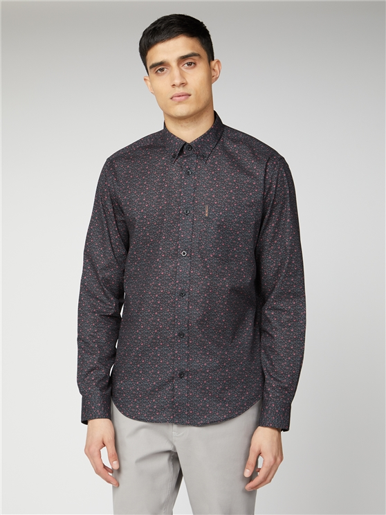 Ben Sherman Long Sleeve Paisley Print Shirt