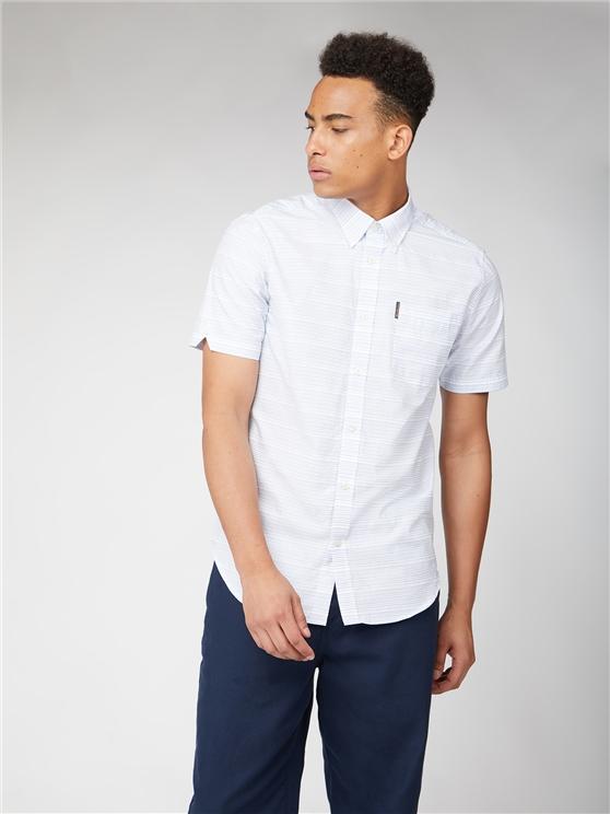 Ben Sherman Short Sleeve Jacquard Dot Shirt