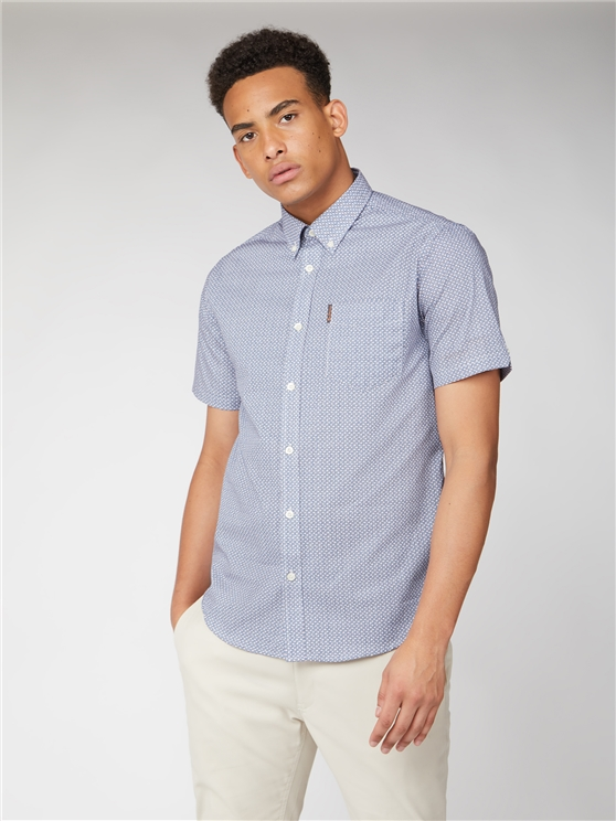 Short Sleeve Mini Geo Shirt