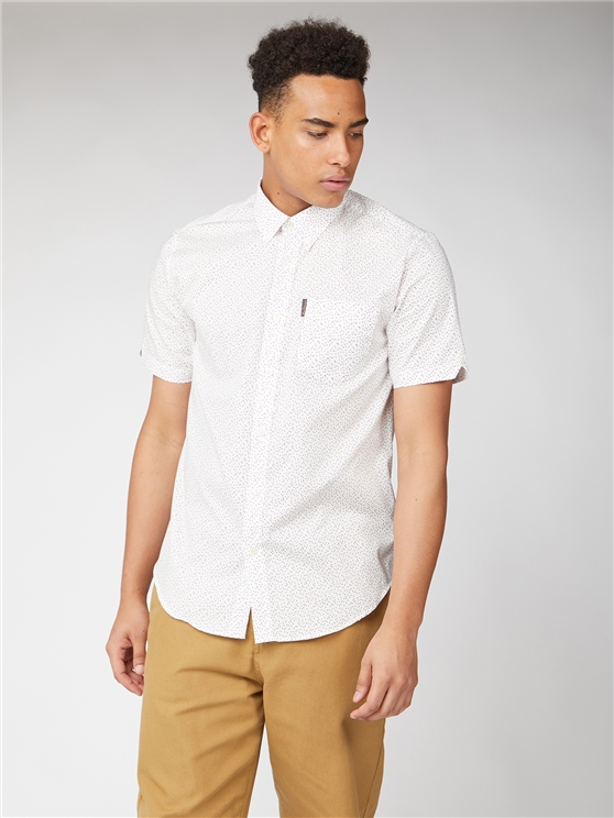 Short Sleeve Dash Print Shirt