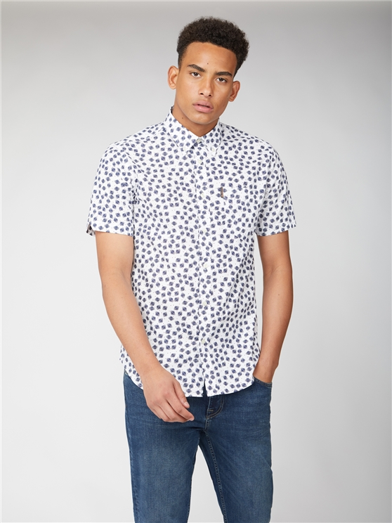 Short Sleeve Scratch Print Shirt