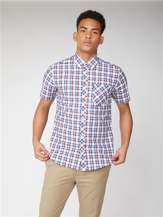 Ben Sherman Short Sleeve Large Check Shirt