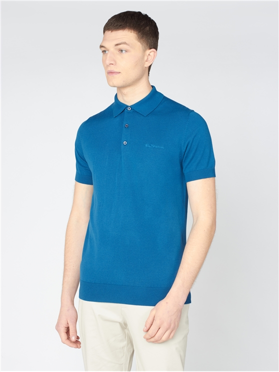 Signature Short Sleeve Knitted Polo Shirt
