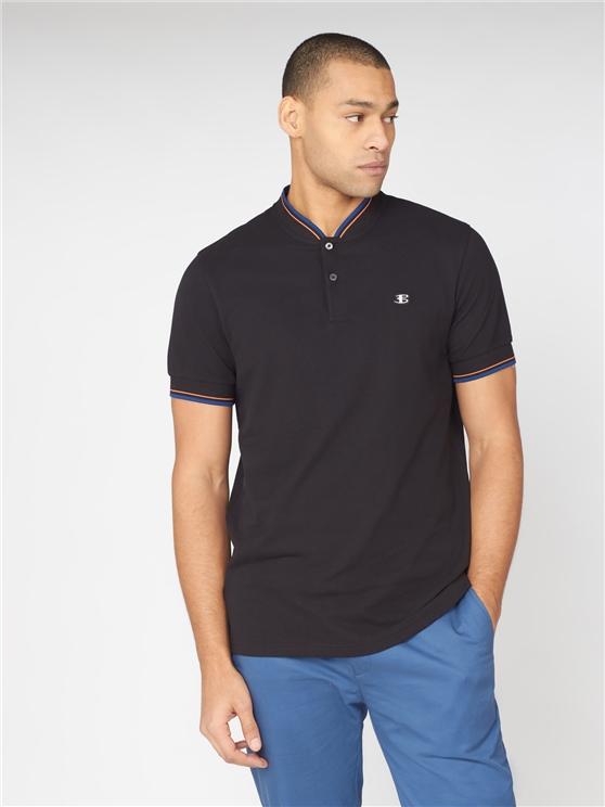 'B by Ben Sherman' Baseball Collar Polo Shirt