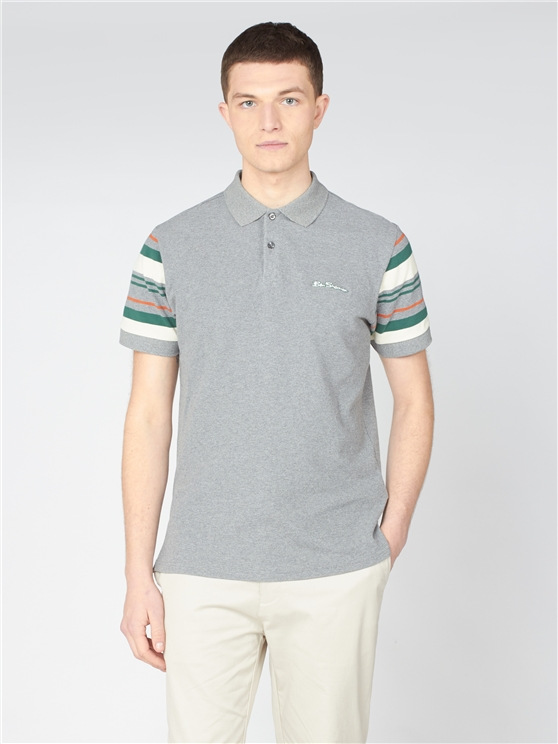 Sleeve Stripe Polo Shirt