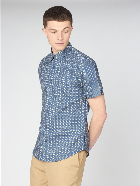 Faded Square Print Shirt
