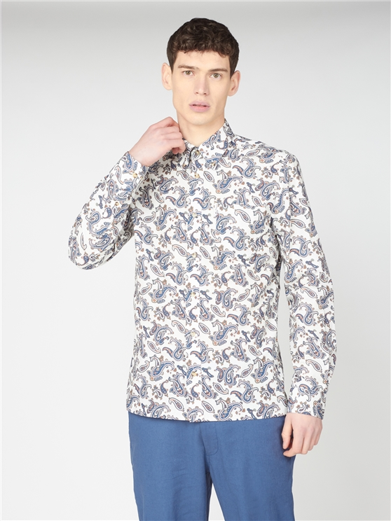 Large Paisley Print Shirt