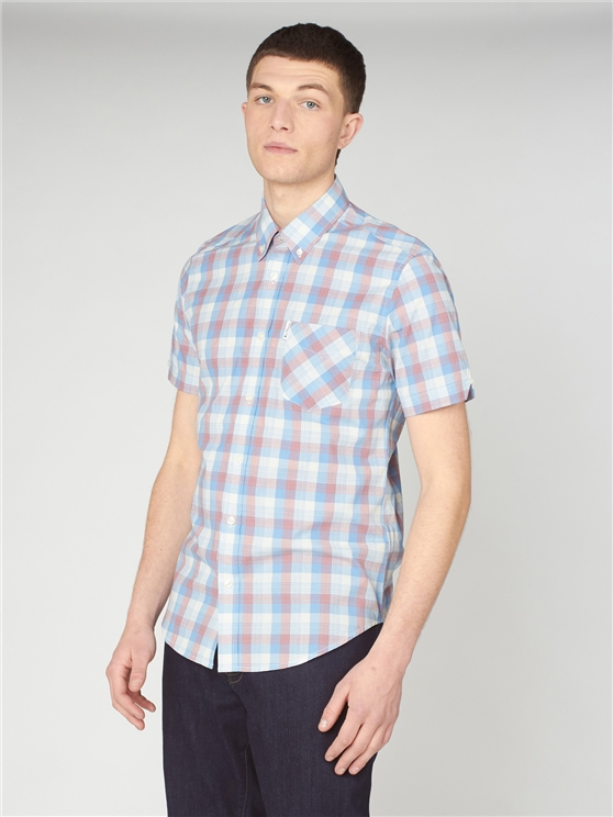 Large Gradient Check Shirt