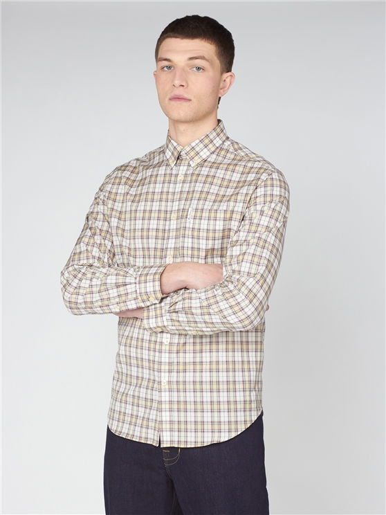 Yellow Tartan Check Shirt