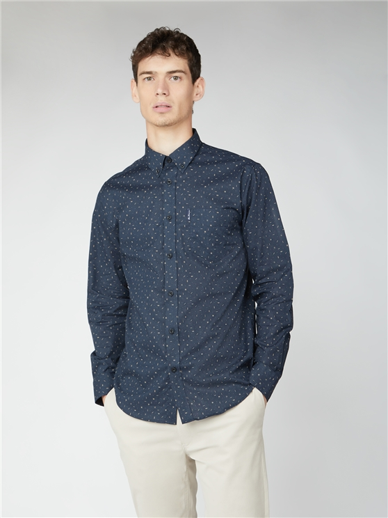 Long Sleeve Scatter Print Shirt
