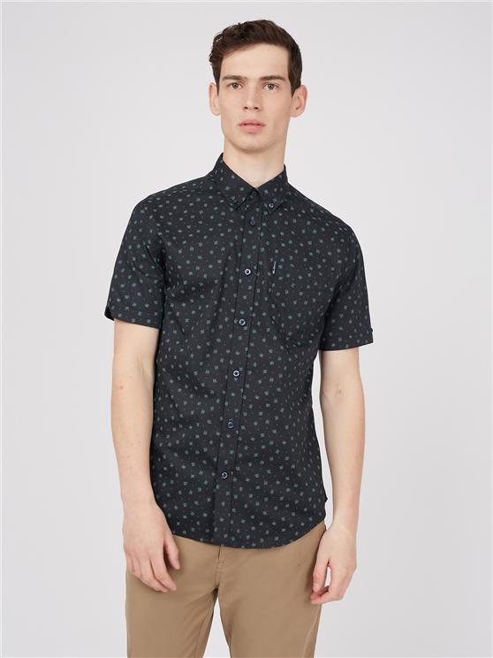Short Sleeve Wave Scatter Print Shirt