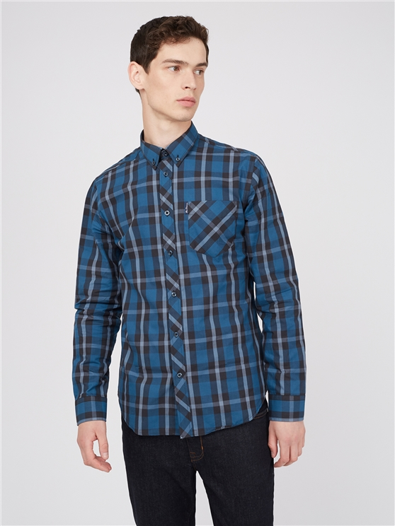 Large Scale Long Sleeve Check Shirt