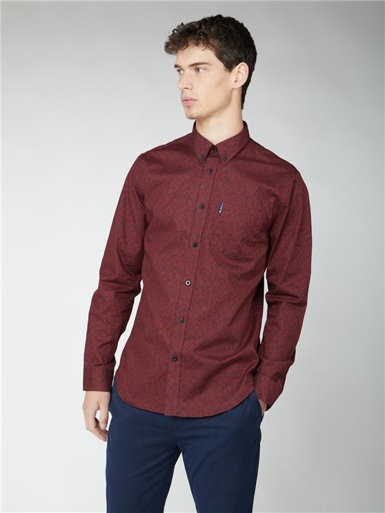 Long Sleeve Ornate Paisley Shirt