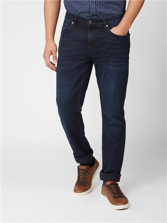 Blue Black Slim Fit Jean