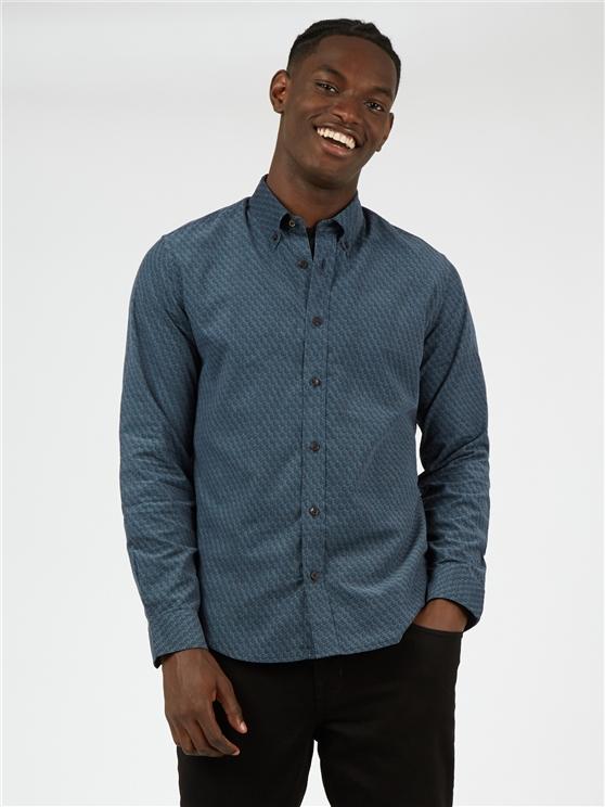 Geometric Printed Cord Shirt
