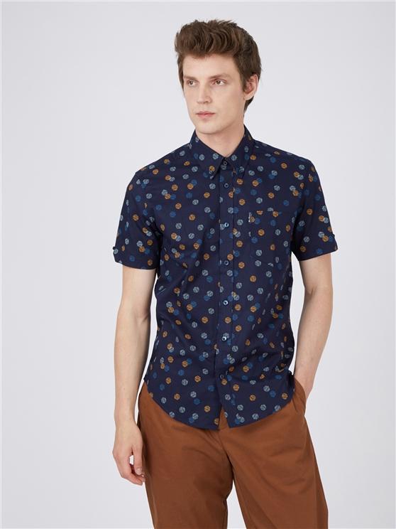 Scattered Geometric Print Shirt