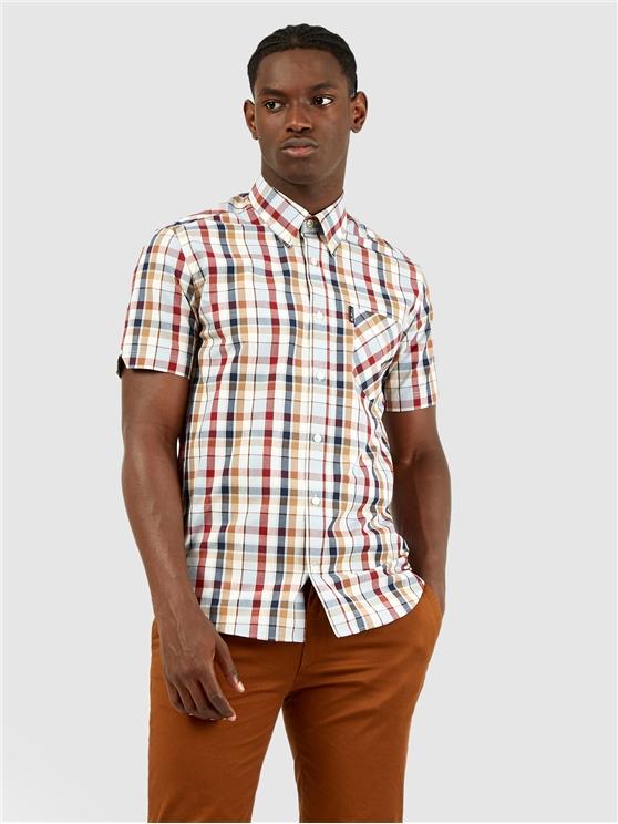 Madras Checked Short Sleeved Shirt
