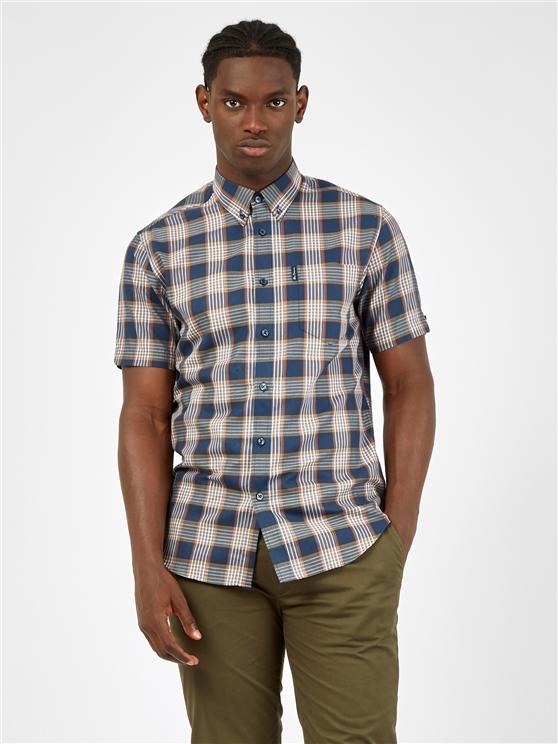 Dijon Twill Checked Short Sleeved Shirt