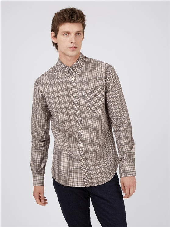 Hemp Mini Mod Checked Long Sleeved Shirt