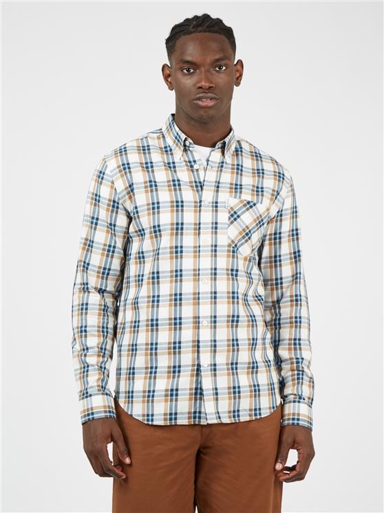 White Winter Madras Checked Shirt