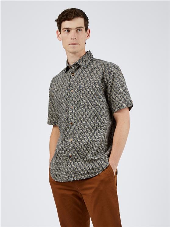 Textured Base Print Shirt