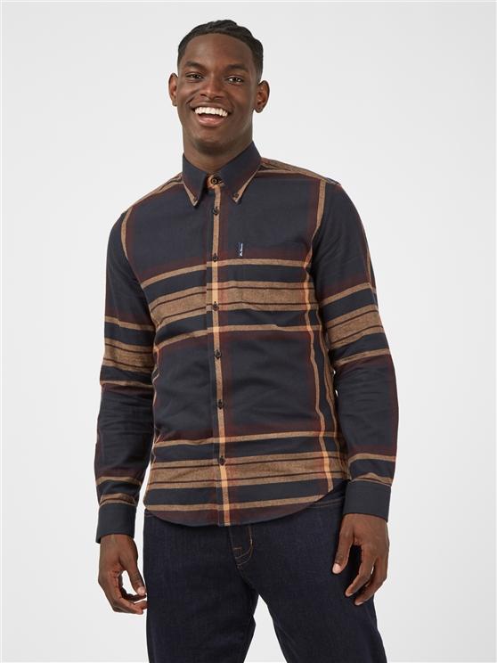 Caramel Oversized Tartan Checked Shirt