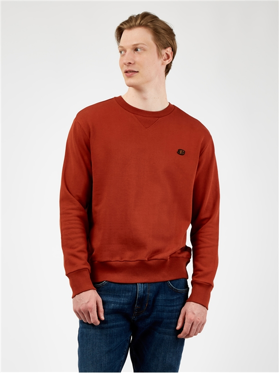 B Logo Crew Neck Sweatshirt