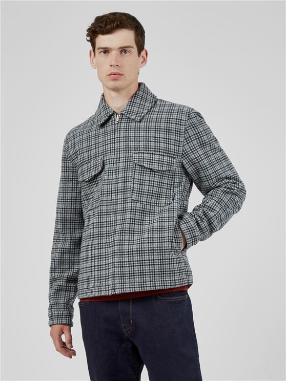 Monochrome Check Jacket