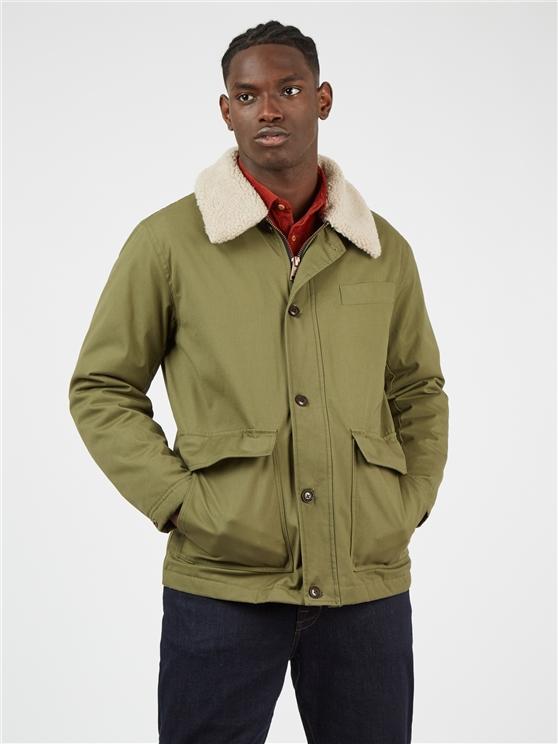 Green Hemp Workers Coat