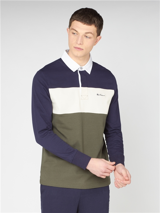 Colour Block Rugby Shirt