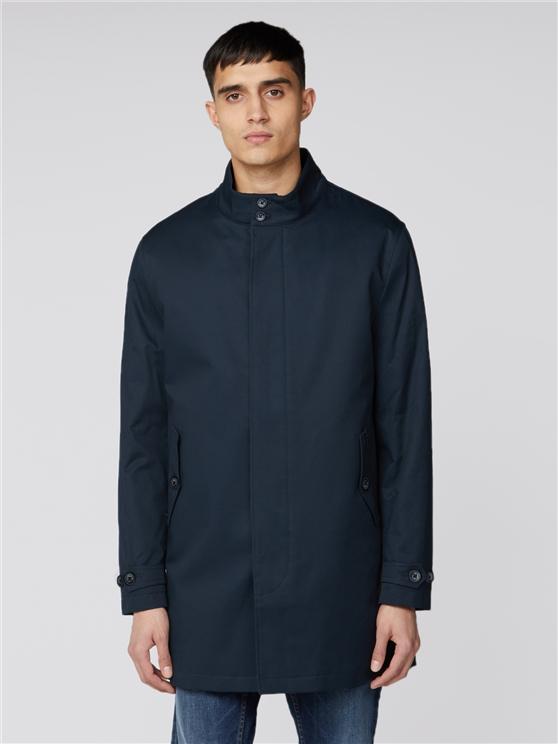 Dark Navy Cotton Mac