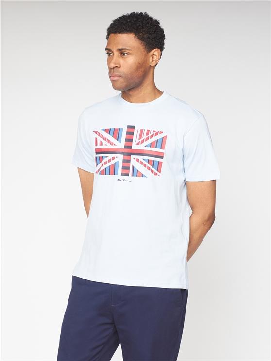 Influence Chevron Block T-Shirt - Sky