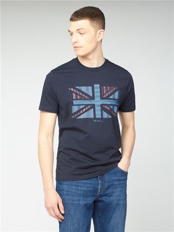 Influence Chevron Block T-Shirt - Navy