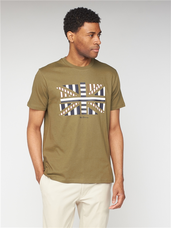 Influence Chevron Block T-Shirt - Khaki
