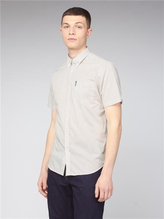Short Sleeve Linear Spot Print Shirt