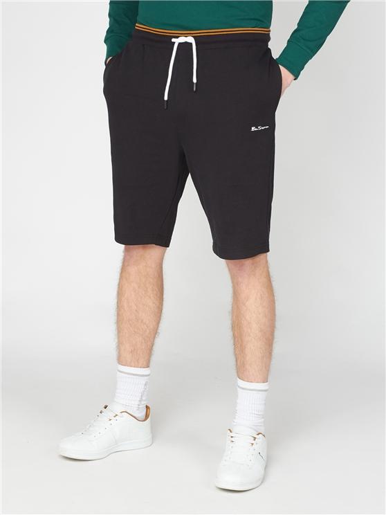 Tipped Waistband Sweat Shorts