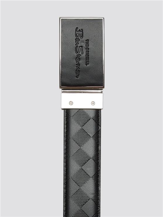 Black & Pattern Reversible Belt