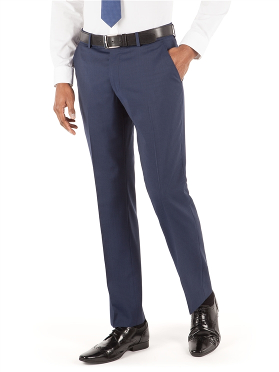 Navy Stripe Slim Fit Suit Trouser